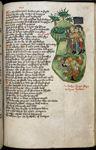 Heathen kings being slain by Arthur