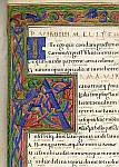 Detail of initial and upper border