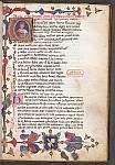 Historiated initial of Boethius