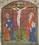 Detail: Crucifixion and owners(?)