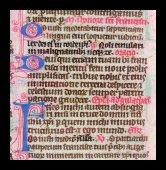 Pen-flourished initials