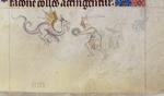 Man fighting a dragon