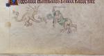 Grotesque and dragon