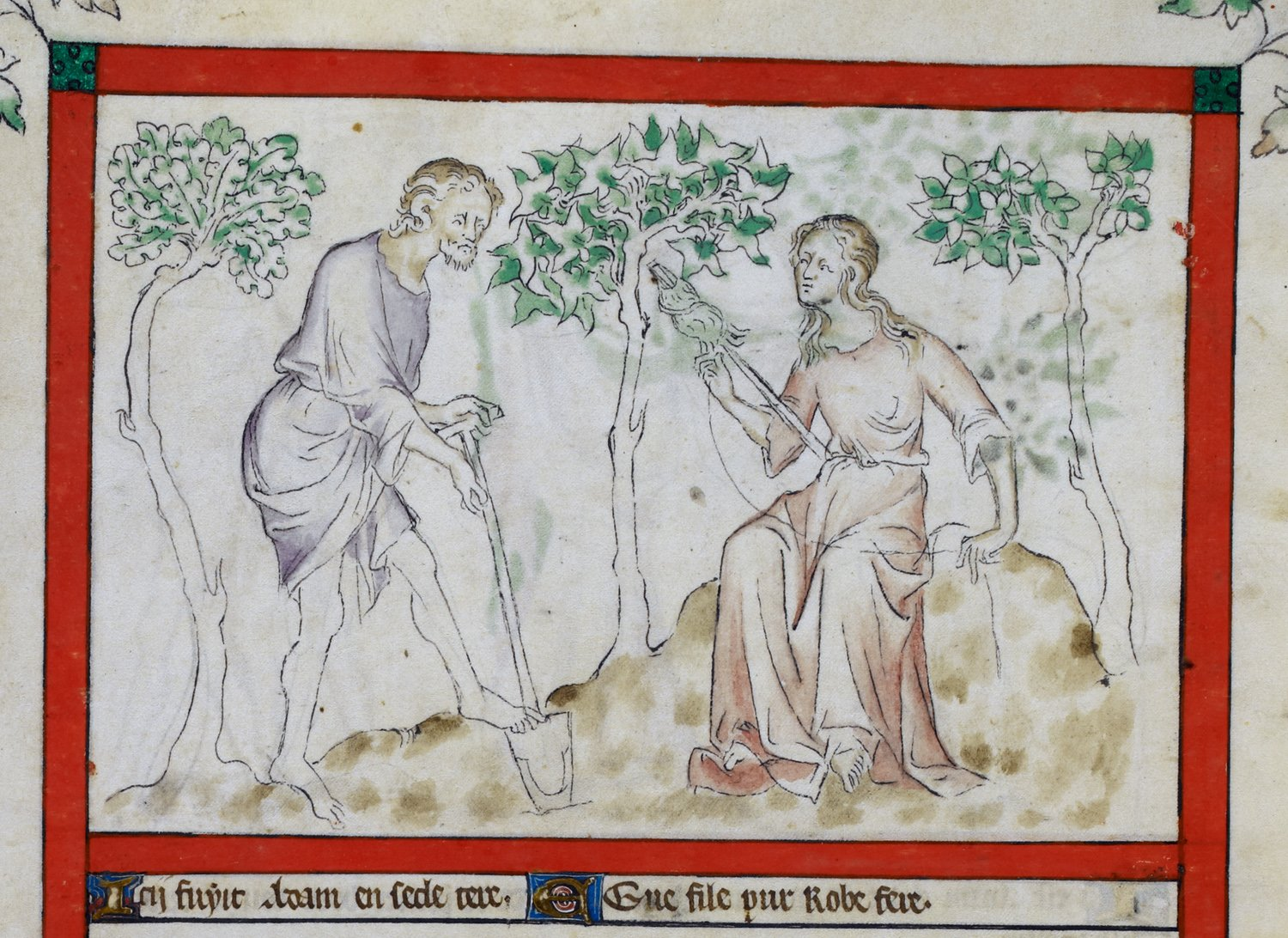 The British Library: Adam and Eve dans immagini sacre G70036-57a