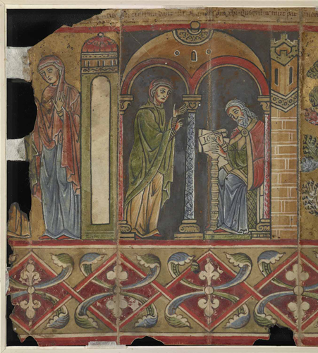 The Visitation and Zacharias writing