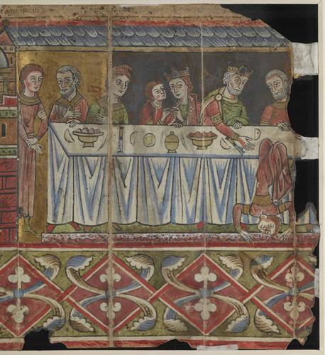 Herod and Herodias watch Salome performing