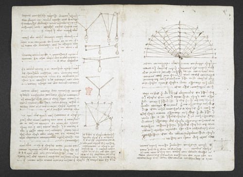 f. 5v, displayed as an open bifolium with f. 10v: notes and diagrams