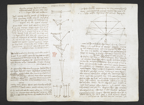 f. 6v, displayed as an open bifolium with f. 9: diagrams and notes
