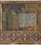 John baptising a man in a tub
