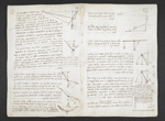 f. 7v, displayed as an open bifolium with f. 8: diagrams and notes
