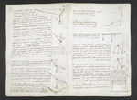 f. 8, displayed as an open bifolium with f. 7v: diagrams and notes