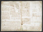 f. 32v, displayed as an open bifolium with f. 31: notes and diagrams