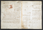 f. 37, displayed as an open bifolium with f. 38v: diagrams and notes