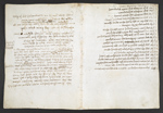 f. 58v, displayed as an open bifolium with f. 45: notes