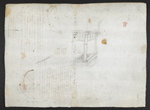 f. 77, displayed as an open bifolium with f. 74v: sketch