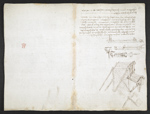 f. 81, displayed as an open bifolium with f. 91v: drawings, notes