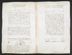 f. 81v, displayed as an open bifolium with f. 91: notes and diagrams