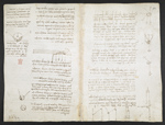 f. 92v, displayed as an open bifolium with f. 80: diagrams and notes