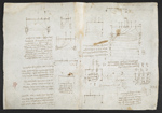 f. 105, displayed as an open bifolium with f. 106v: diagrams