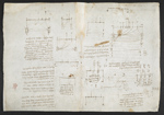 f. 106v, displayed as an open bifolium with f. 105: diagrams