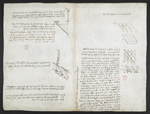 f. 120v, displayed as an open bifolium with f. 121: diagrams
