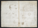 f. 122, displayed as an open bifolium with f. 125v: sketches and diagrams