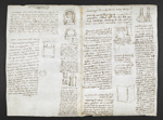 f. 138, displayed as an open bifolium with f. 141v: diagrams