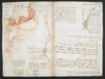 f. 147, displayed as an open bifolium with f. 148v: sketch