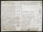 f. 157, displayed as an open bifolium with f. 158v: diagrams