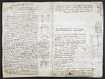 f. 158v, displayed as an open bifolium with f. 157: diagrams