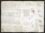 f. 164v, displayed as an open bifolium with f. 165: diagrams