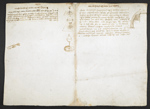 f. 167v, displayed as an open bifolium with f. 162: sketches