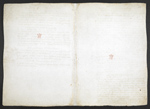 f. 168, displayed as an open bifolium with f. 161v: blank page