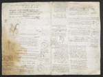 f. 174, displayed as an open bifolium with f. 175v: diagrams