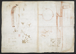 f. 180, displayed as an open bifolium with f. 177v: sketches and diagrams