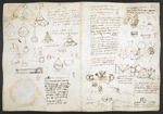 f. 197, displayed as an open bifolium with f. 198v: diagrams