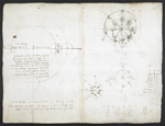 f. 212, displayed as an open bifolium with f. 213v: diagrams