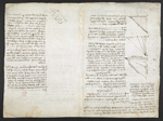 f. 216v, displayed as an open bifolium with f. 217: sketch