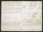 f. 260v, displayed as an open bifolium with f. 259: text and sketches