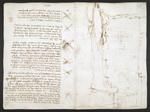 f. 276v, displayed as an open bifolium with f. 273: notes amd sketches