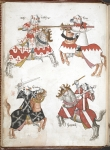 Four mounted knights