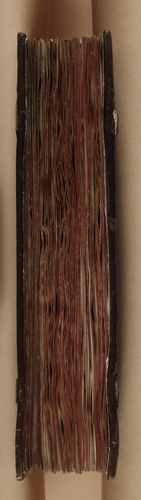 Front edge of the manuscript