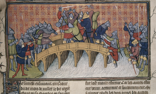 Battle on the bridge over the Seine