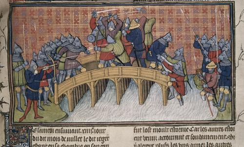 Battle on the bridge over the Seine