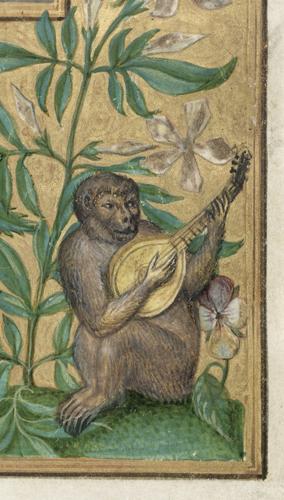 Monkey playing lute