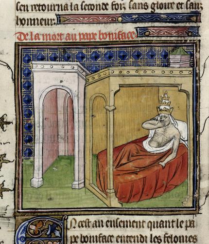 Death-bed of Boniface