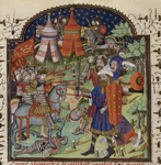 Alexander fighting with a giant