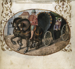 Carriage with masked figure