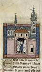 Arthur bidding farewell to his knights