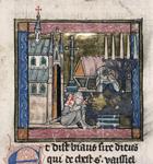 Lancelot asleep in a chapel